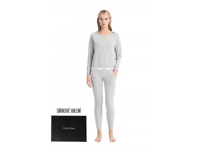 Dárkové balení pro ni: Calvin Klein Mikina + tepláky - šedá