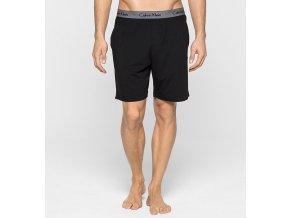 Calvin Klein šortky Cotton Modal - černé