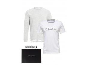 Dárkové balení pro něj: Calvin Klein Mikina + tričko- šedá/bílá
